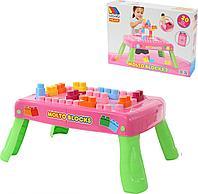 Игровой набор с конструктором в коробке (розовый)