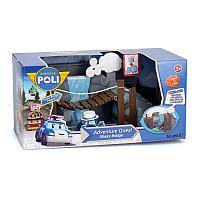 Игровой набор Robocar Poli Обрушающийся мост с металлической машинкой Масти