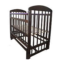 Детская кроватка-маятник поперечного качания (венге)