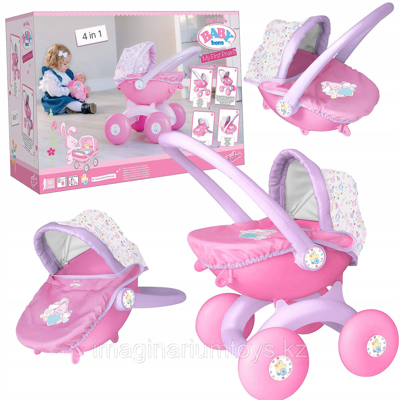 Коляска для кукол Беби Борн 4 в 1 Baby Born