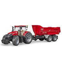 Трактор Case IH Optum 300 CVX с прицепом Krampe Tandem-Halfpipe