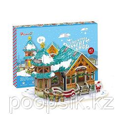 Рождественский домик 3 (с подсветкой)