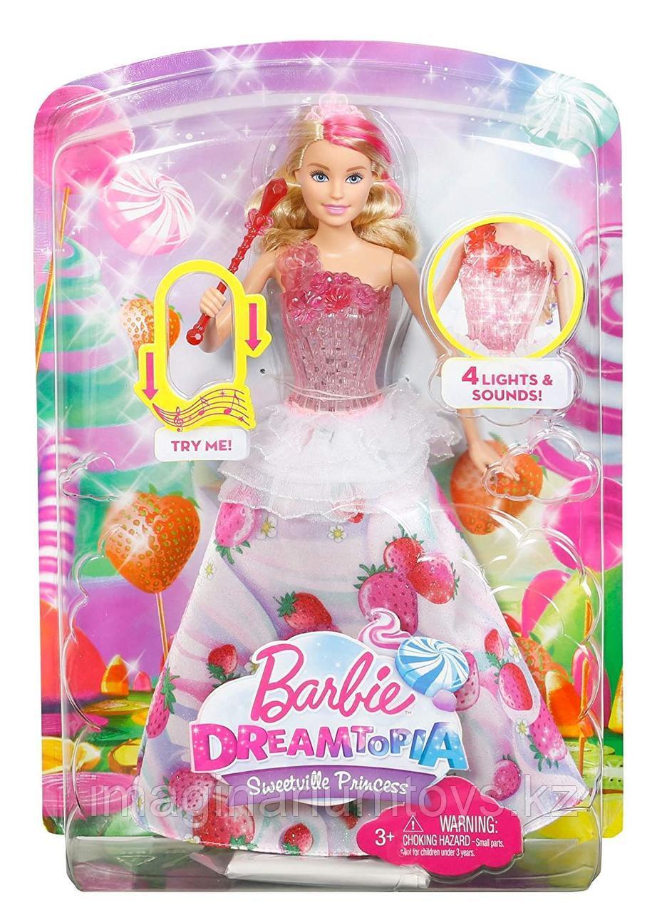 Кукла Барби Dreamtopia Конфетная принцесса со звуком и светом