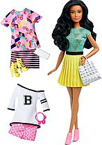 Кукла Барби модница с комплектом одежды брюнетка