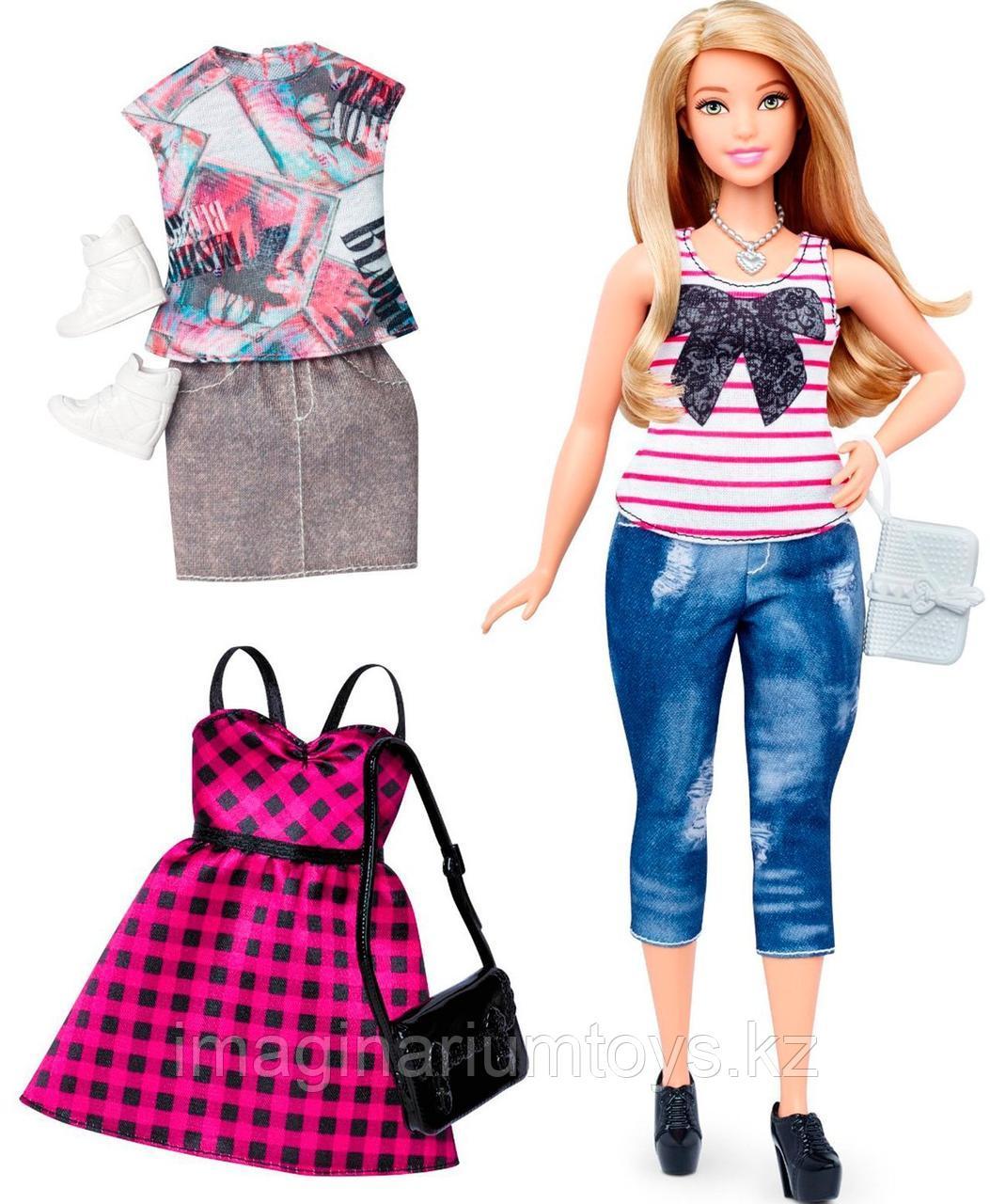 Кукла Барби модница с комплектом одежды пышная