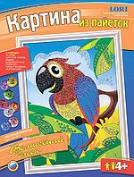 Картина Пестрый попугай из пайеток Lori Ап-001