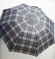 Зонт складной мужской MIRACLE клетчатый (полу-автомат), 122см., фото 1