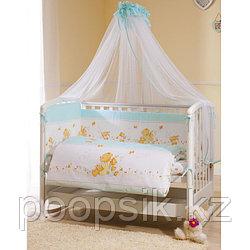 Комплект в кроватку Perina Фея Лето 7 предметов голубой