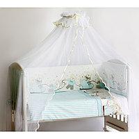 Комплект в кроватку Pituso Мишки голубой 6 предметов