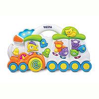 Развивающая игрушка музыкальная Веселый поезд Weina