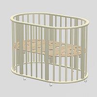 Детская круглая кроватка Ведрусс Оливия 3 в 1 New слоновая кость