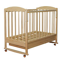 Детская кроватка качалка с ящиком СКВ Митенька береза