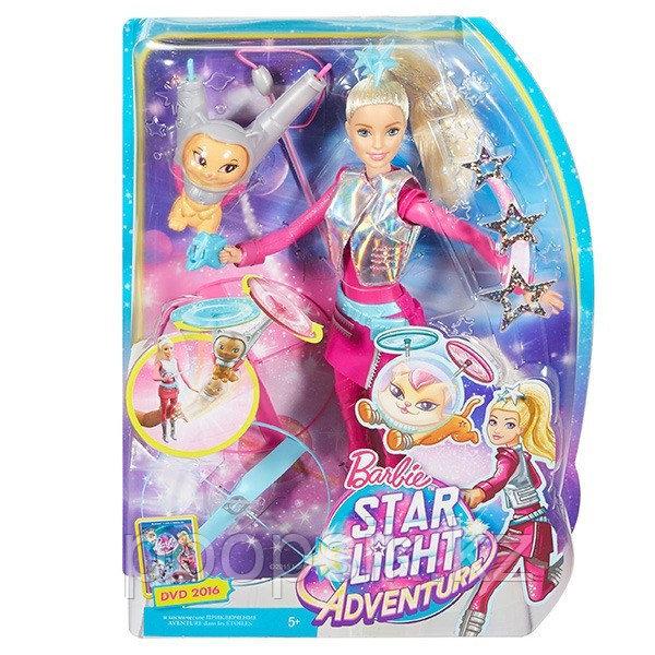 Барби с летающим питомцем Космическое приключение Barbie DWD24 - фото 1