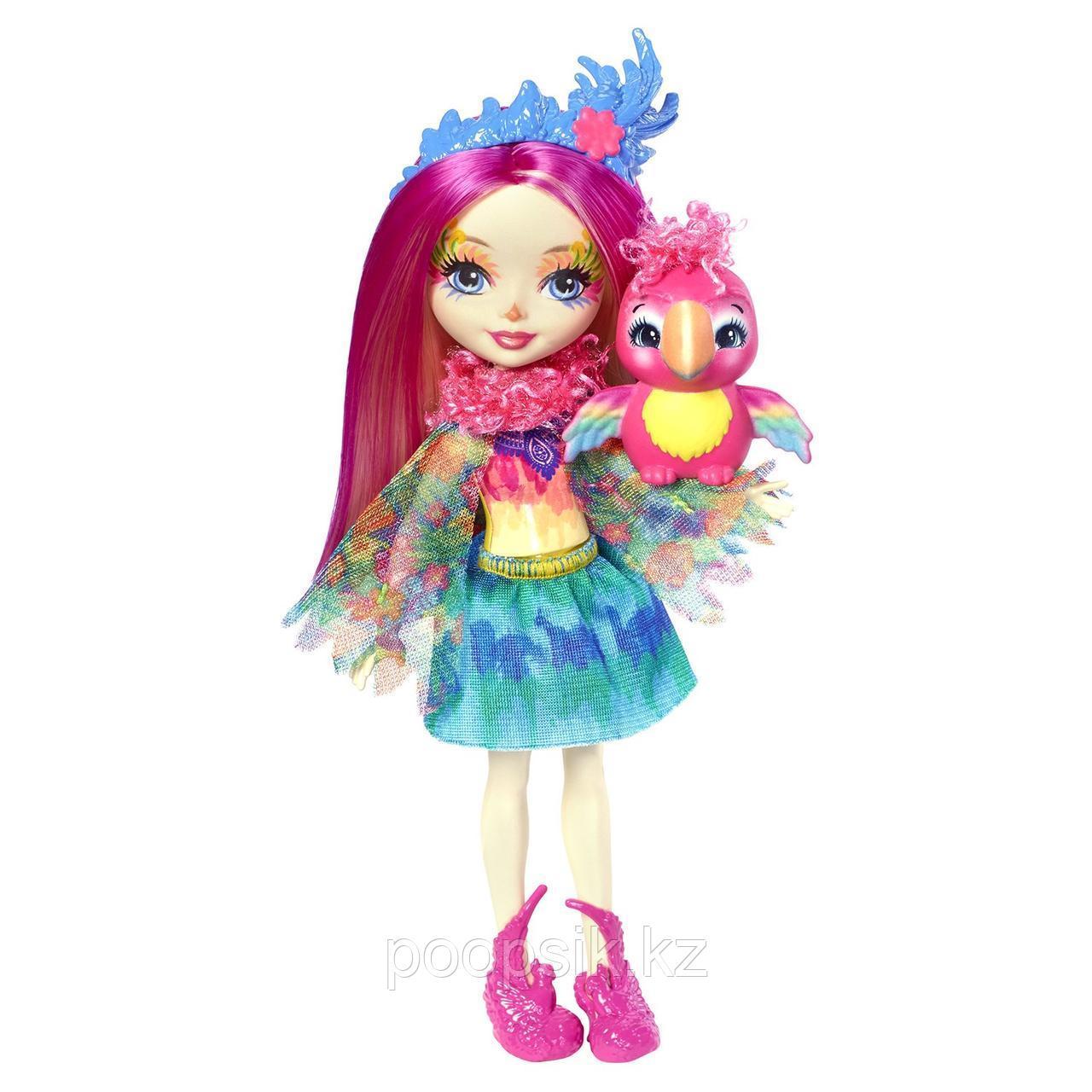 Enchantimals Пикки Какаду с питомцем 15 см, Mattel FJJ21 - фото 1