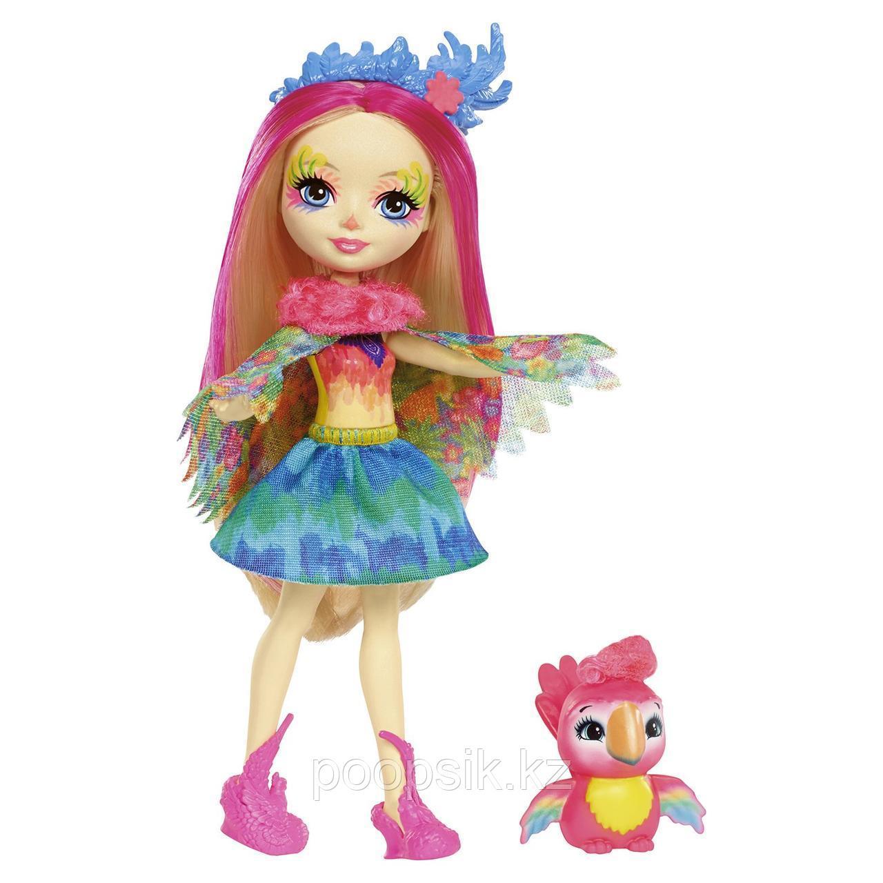 Enchantimals Пикки Какаду с питомцем 15 см, Mattel FJJ21 - фото 3