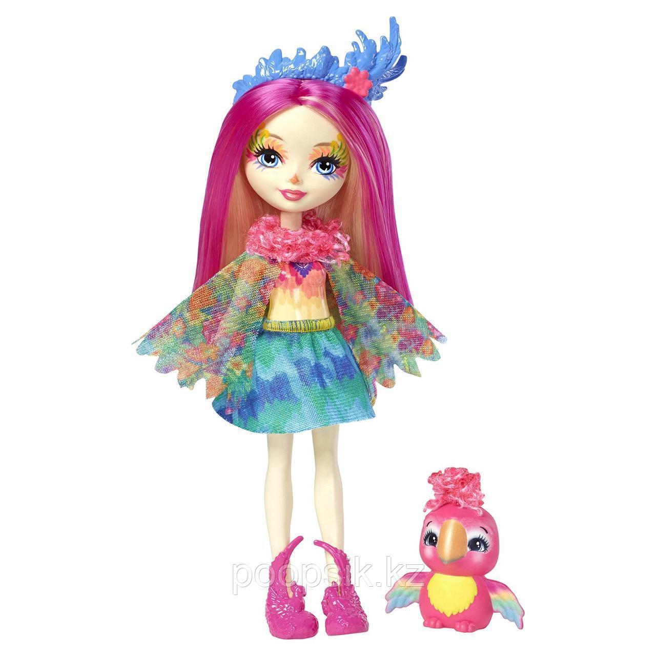 Enchantimals Пикки Какаду с питомцем 15 см, Mattel FJJ21 - фото 5
