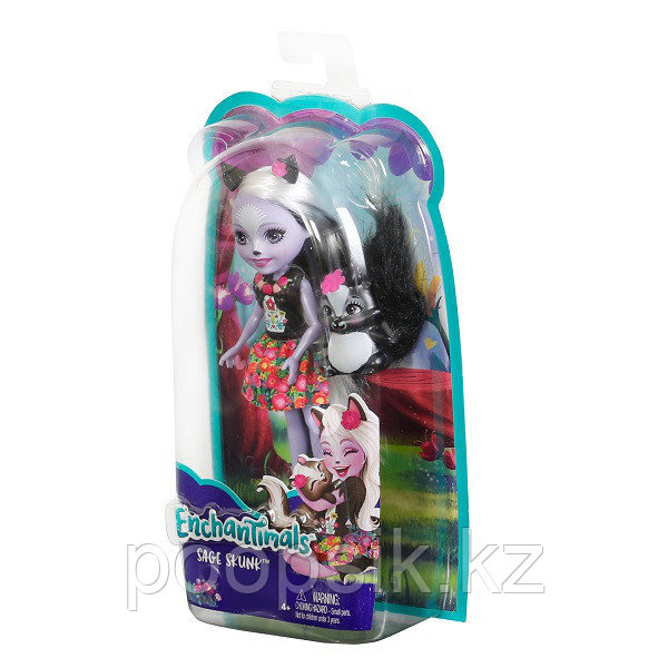 Кукла Enchantimals Седж Скунси, 15 см DVH87/FXM72 - фото 7