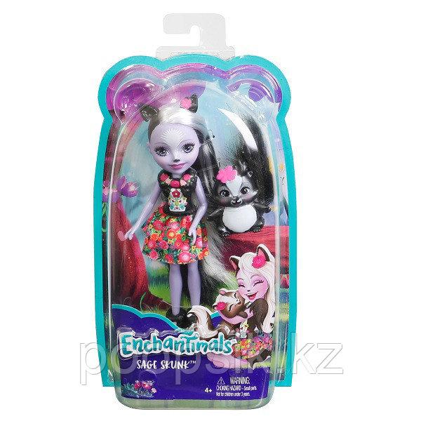 Кукла Enchantimals Седж Скунси, 15 см DVH87/FXM72 - фото 8