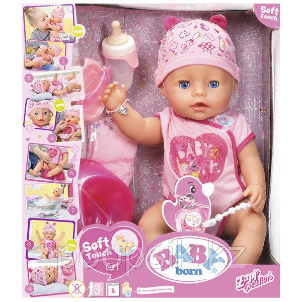 Кукла Интерактивная Baby born Zapf Creation 43см