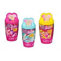 """Mega Bloks """"Barbie"""" Набор в пластиковом тубусе в асс."""