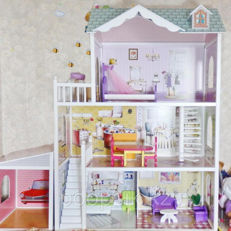 Кукольный дом с мебелью 123 см Edufun EF4108
