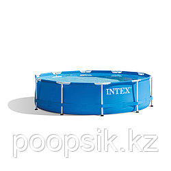 Бассейн каркасный Metal Frame Pool, круглый 28200NP INTEX
