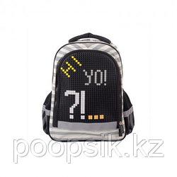 Рюкзак школьный с пикси-дотами (серый) MC-3191-5