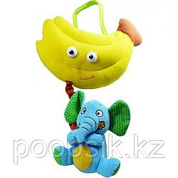 BIBA TOYS Развивающая игрушка СЛОН и БАНАН, 25*20 см