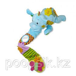 BIBA TOYS Развивающая игрушка СЛОН ЭЛЛИ, розовый 60*16 см