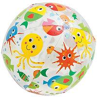 """Мяч надувной пляжный Intex """"Lively Print Balls"""", 61 см. , фото 1"""