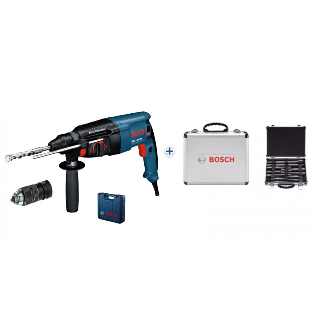 Перфоратор Bosch GBH 2-26 DFR in case +11pcs SDS Plus-set (0615990L2T)