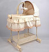 Детская кроватка-люлька для новорожденных(цвет бежевый), фото 2
