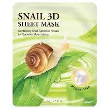 Оздоравливающая 3D маска с экстрактом улитки MISSHA Snail 3D Sheet Mask