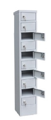 Шкаф металлический для мобильных телефонов 10 ячеек (200х200х1140) арт. СОТЕЛ 10