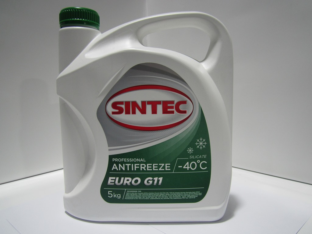 Российский Антифриз SINTEC EURO G11 -45*С зеленый 5kg.