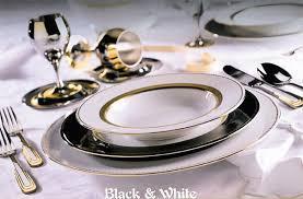 Чайно-столовый сервиз Black&White ( черное и белое)-комплнкт на 12 персон