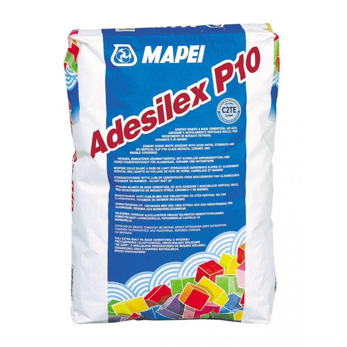 Белый цементный клей Adesilex P10