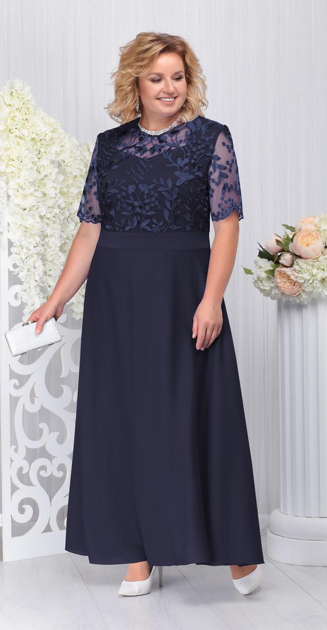 Платье Ninele-2195/4, темно-синий, 56