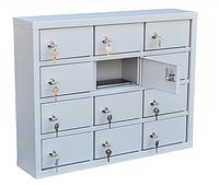 Шкаф металлический для мобильных телефонов 12 ячеек (650х150х510) арт. СОТЕЛ 12, фото 1