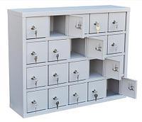 Шкаф металлический для мобильных телефонов 20 ячеек (720х200х580) арт. СОТЕЛ 20