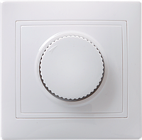 Светорегулятор поворотный ВСР10-1-0-КБ КВАРТА белый IEK, фото 1