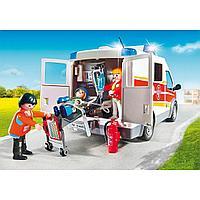 Конструктор Playmobil Детская клиника: Машина скорой помощи, со светом и звуком