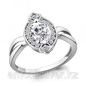 Кольцо из серебра с фианитом   Aquamarine 68543