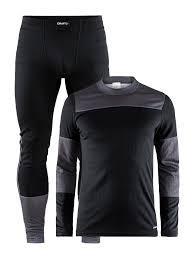 Термобелье мужской комплект  Craft Baselayer черный-серый