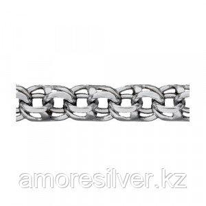Цепь КУБАЧИ серебро с родием, без вставок, бисмарк ручной 5308055