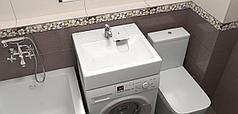 Раковина над стиральной машиной Монако V51 (белый). Мрамор.