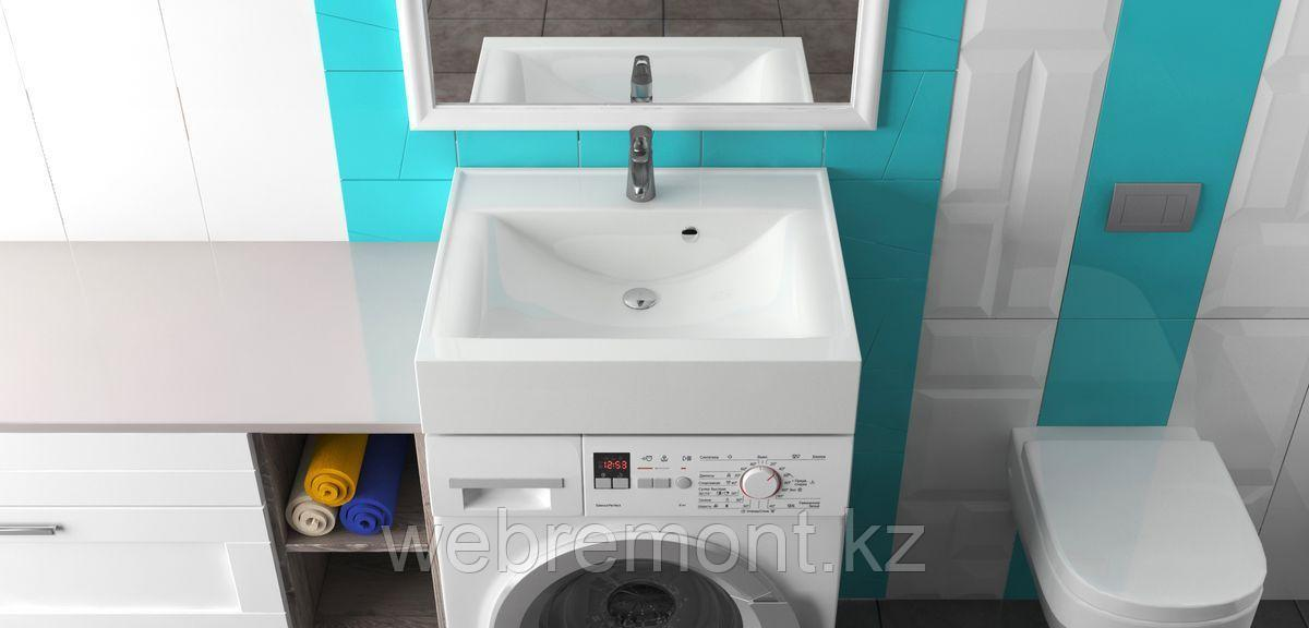 Раковина над стиральной машиной Шерри (580 x 485 x 130 мм). Мрамор.