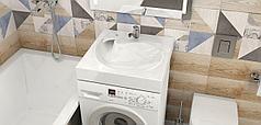 Раковина над стиральной машиной Лилия V60 (600 х 600 х 130 мм.). Мрамор.