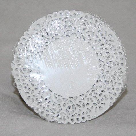 Салфетки серв. d 10 см, бел. бум., фото 2