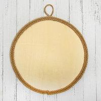 Основа для творчества и декорирования 'Круг с рамкой из верёвки' D 30 см